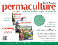 Flyer & Sign: Permaculture Magazine, North America