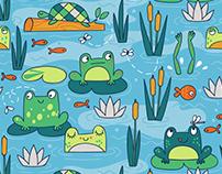 Lonecone Rainboot Surface Pattern Design