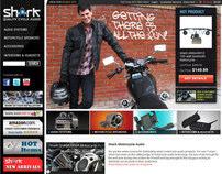 SHARK Motorcycle Audio e-Commerce Website