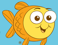 Mascot Character Design for Goldfish Swim School