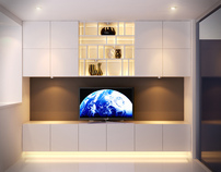Contemporary Eco Fitted TV Media living room unit.