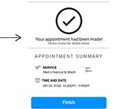 Salon App UX Design