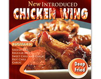 A flyer for chicken wing