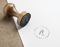 Rivas Frames Logo Design