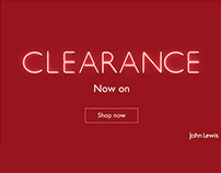 John Lewis Clearance Responsive Email