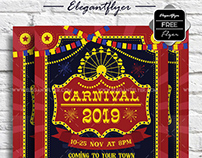 Carnival – Free Flyer PSD Template + Facebook Cover
