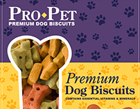 Pro-Pet Dog Biscuits : Packaging Design
