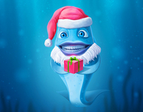 New Year wallpaper for Moscow Oceanarium