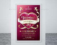 Valentine`s Day Flyer