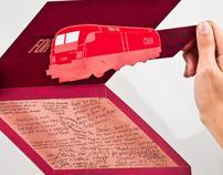 Sagmeister Interactive Train Card