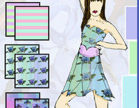 Mystic Blue Roses - Digital Fabrics Trend Board