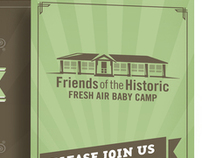 Friends of the Fresh Air Baby Camp Invite