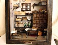 Traditional oriental Herbal Medicine Shop-Miniatures
