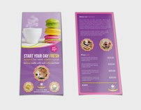 Cafe Flyer DL Size Template