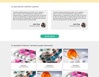 Diseño de landing page para glovoapp.com.