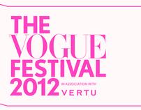 Vogue Festival 2012, with Vertu