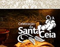 Banner / Tela digital para anunciação da Santa Ceia.