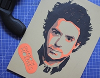 Robert Downey Jr as Sherlock Holmes - Papercut Portrait
