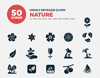JI-Glyph Nature Icon Set