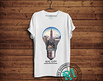 Mens City Print Graphic Tees