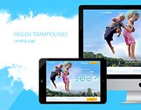 Hegen Trampolines landing page
