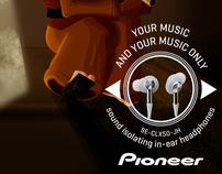 Pionner. Sound isolating in-ear headphones.