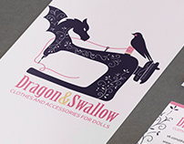 Лого, визитка. баннер для ВК для Dragon&Swallow