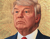 Donald Trump portrait for The National Journal