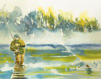 Fisherman / Il pescatore / Рыбак