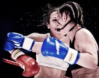Woman Kick-boxing