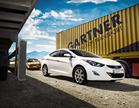 Tracks and Elantra / automotive photography