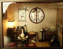 The orient traditional room- asian old things, antiques