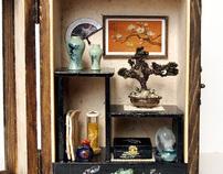 Antique oriental collection, Bonsai, Pottery mini deco
