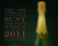 Student Champagne Toast Invitation