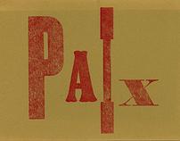 Paix: Letterpress