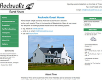 Rockvale Guest House • website design