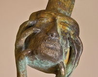 "Bronze sculpture, ""Ser maceta"""