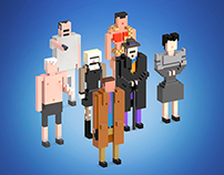 Movie & TV Quiz images in 8-bit 3D