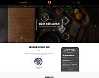 Vicky - WordPress Restaurant & Cafe Theme
