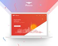 Phenix Software Landing Page Concept