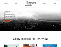 Hinterland Film Festival Website Design