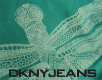 DKNY JEANS WOMENS GRAPHIC TEES SPRING SUMMER 2013