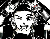 INKtober 2016 - Punk Girls
