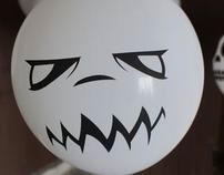 caracter face balloons