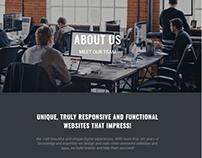 About Page - Dark WordPress Theme