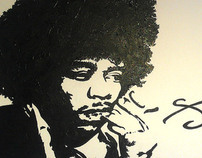 Jimmy Hendrix. paint