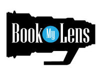 Book My lens Logo design