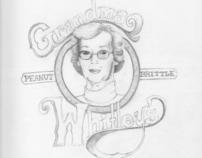 Grandma Whitley's Peanut Brittle - Logo Concept