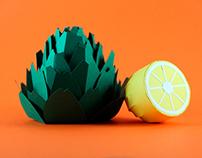 Alcachofa/ Papercraft