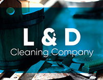 L&D Cleaning Company Branding